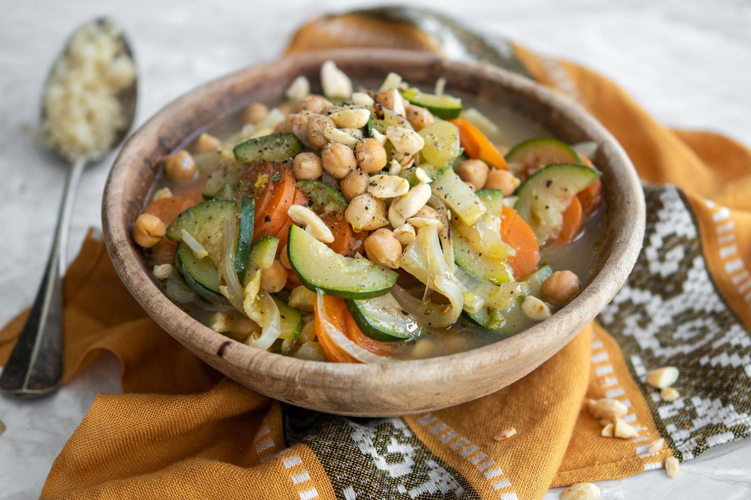 Couscous de légumes aux amandes et au cumin
