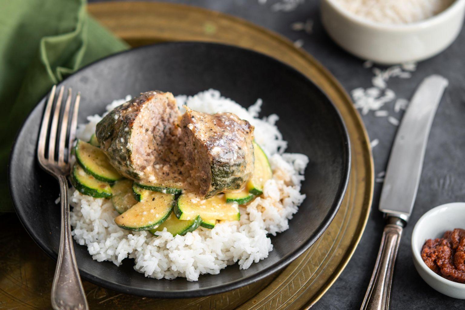 Crépinettes de porc au curry rouge