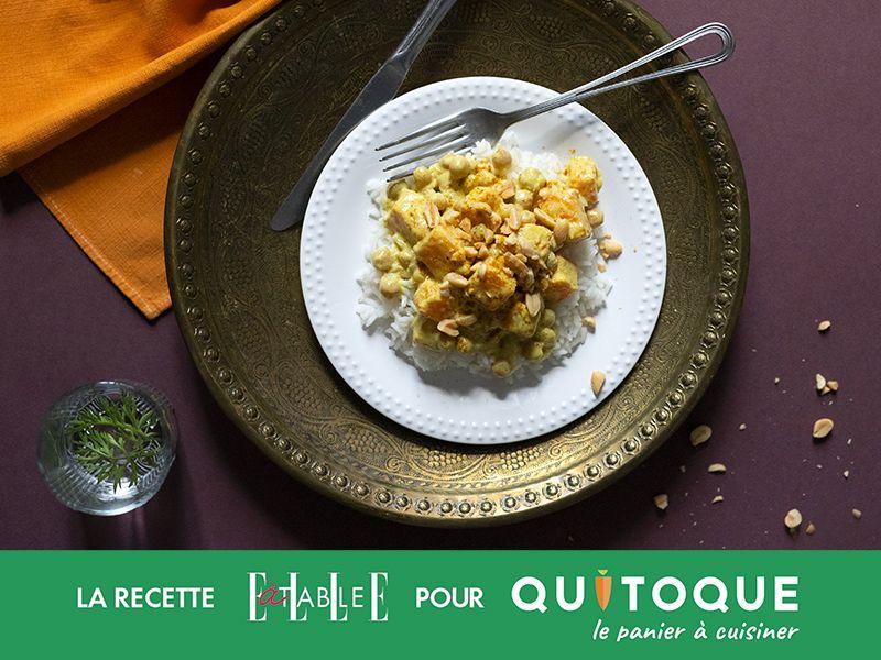 Curry de butternut aux pois chiches