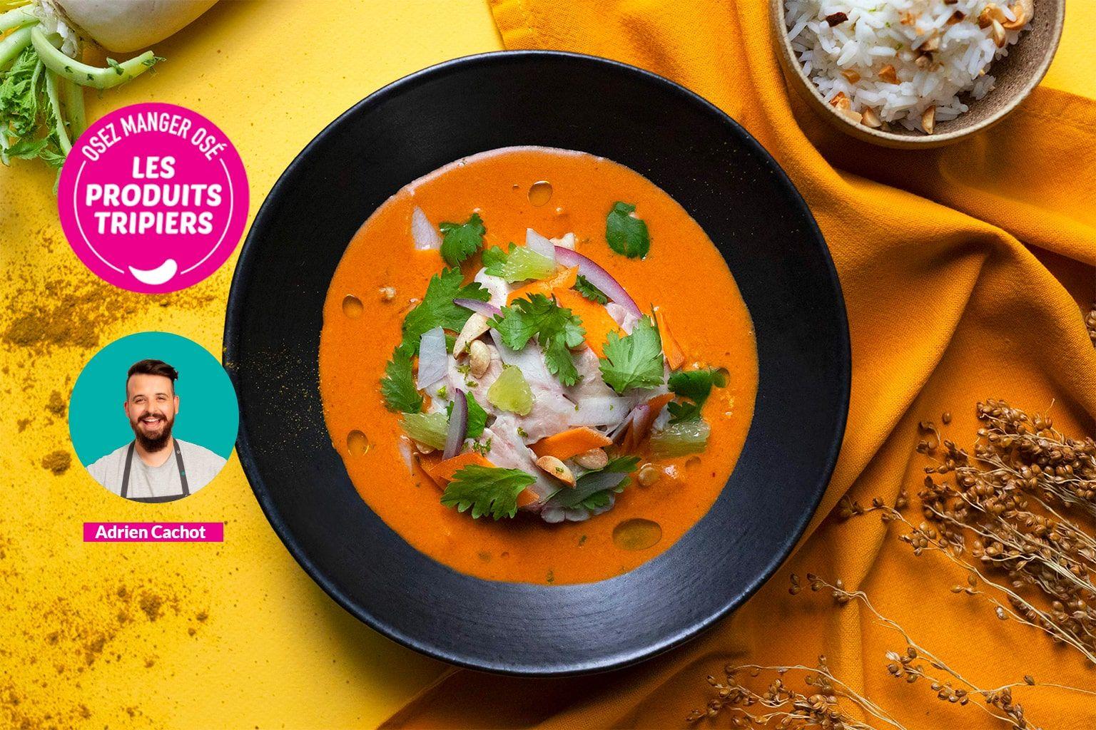 Curry panang d'Adrien à la cervelle d'agneau et cacahuètes