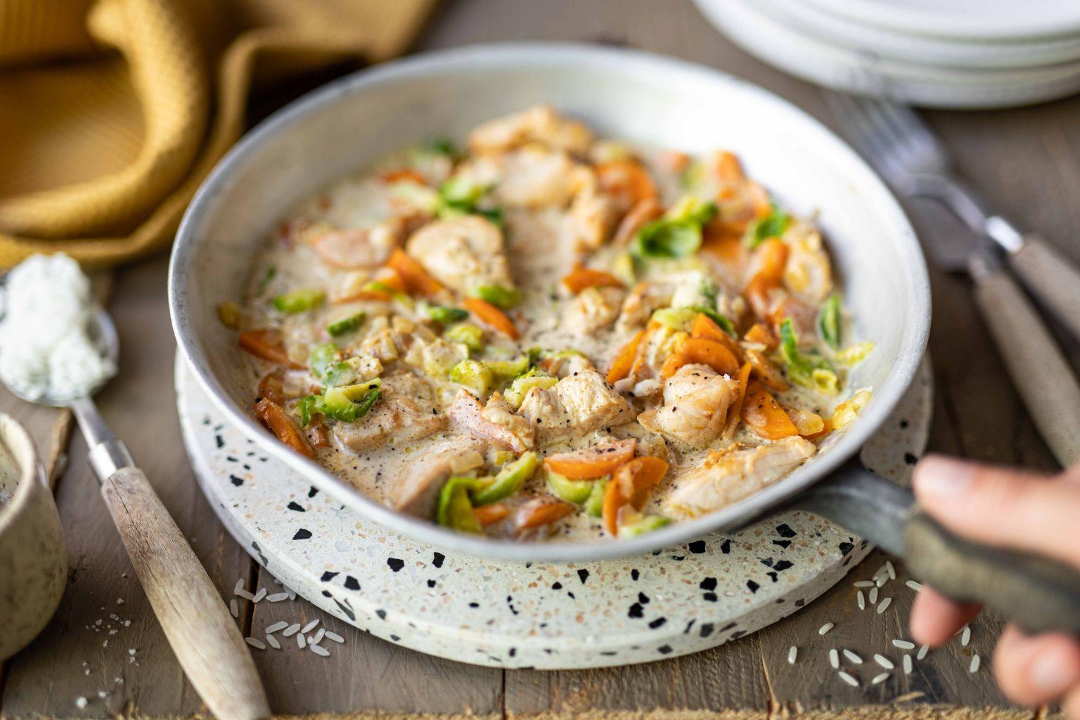 Curry rouge de dinde au lait de coco