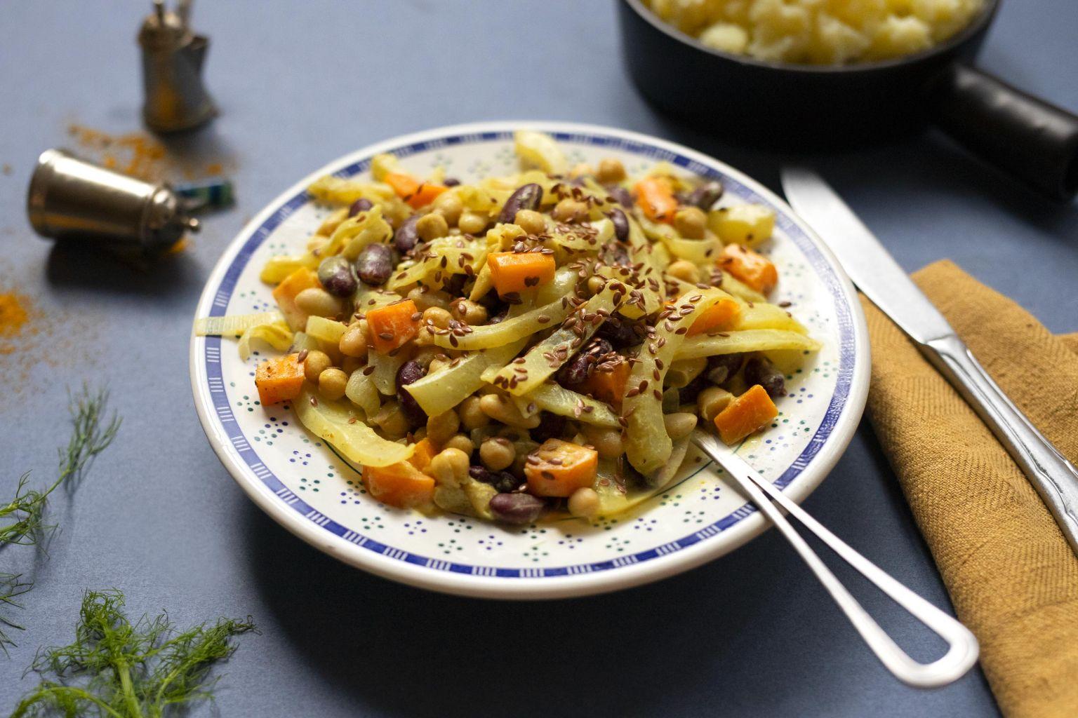 Mijoté de légumes au curry Madras et lait de coco