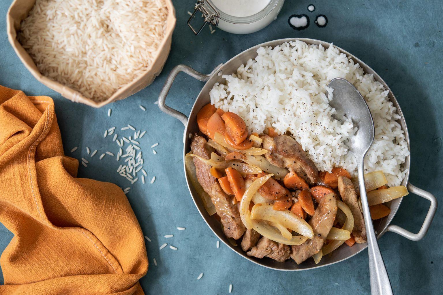 Curry vert de porc au lait de coco