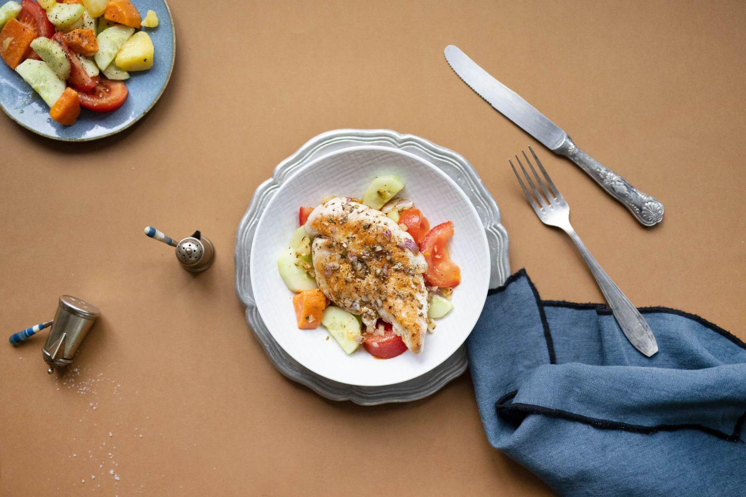 Escalopes de dinde et sauce vierge aux épices chimichurri