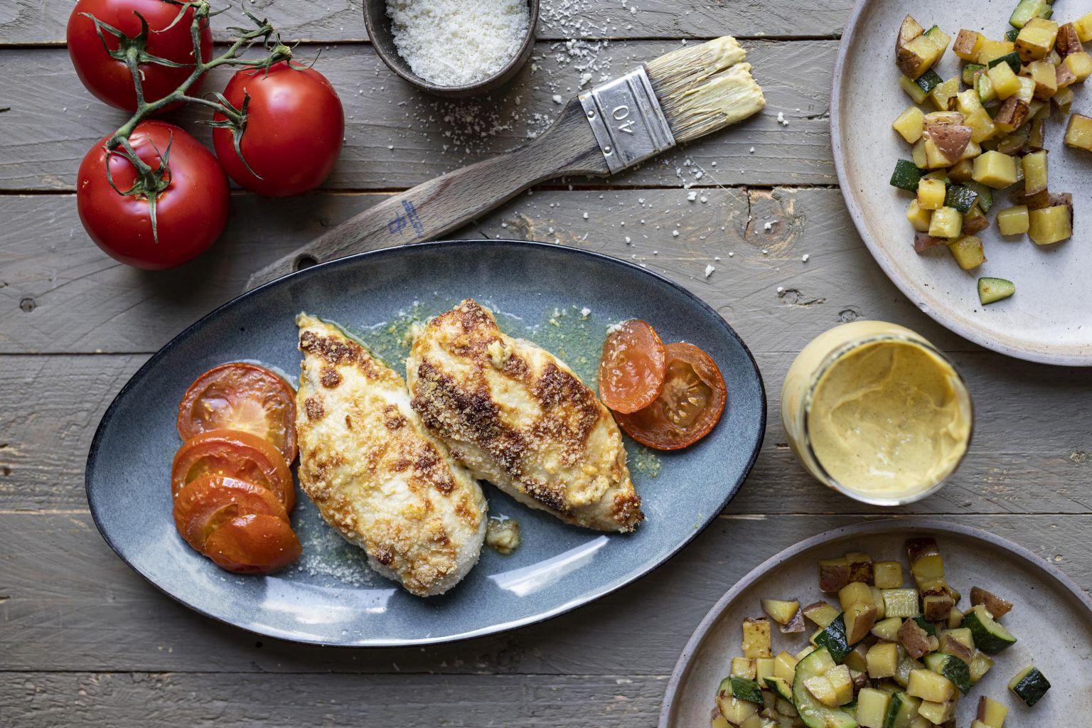 Filet de poulet à la moutarde et au pecorino