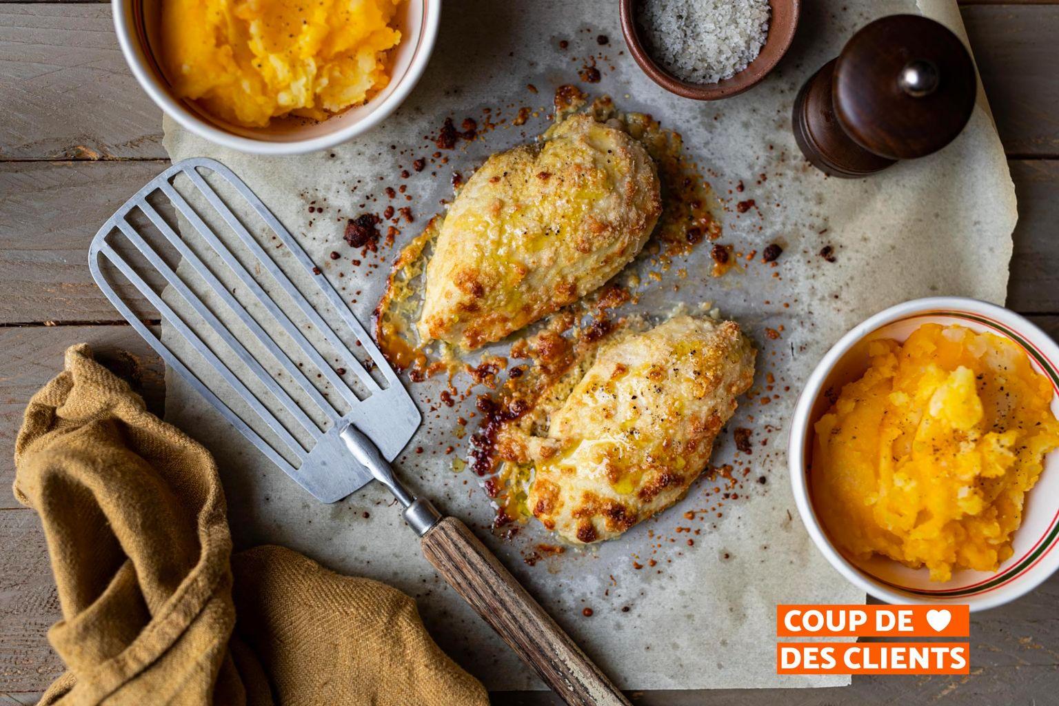 Filets de poulet à la moutarde et au parmesan AOP