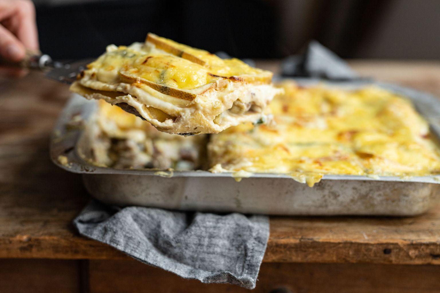 Lasagnes au jambon italien et morbier AOP