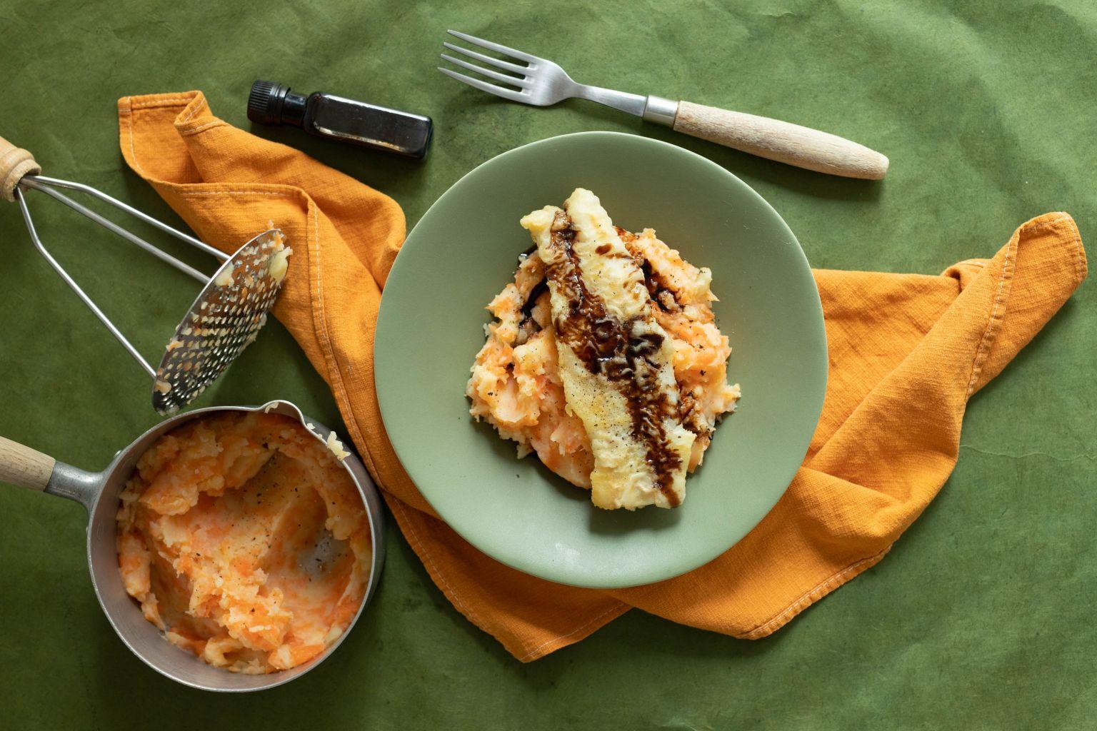 Merlu grillé au condiment de balsamique aux agrumes