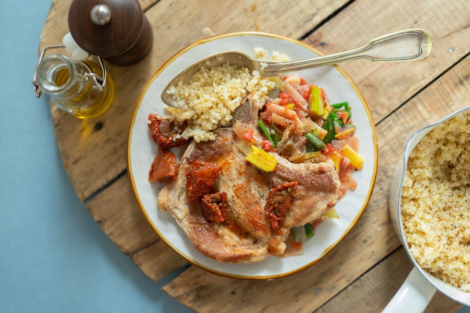 Côtes de porc aux tomates séchées