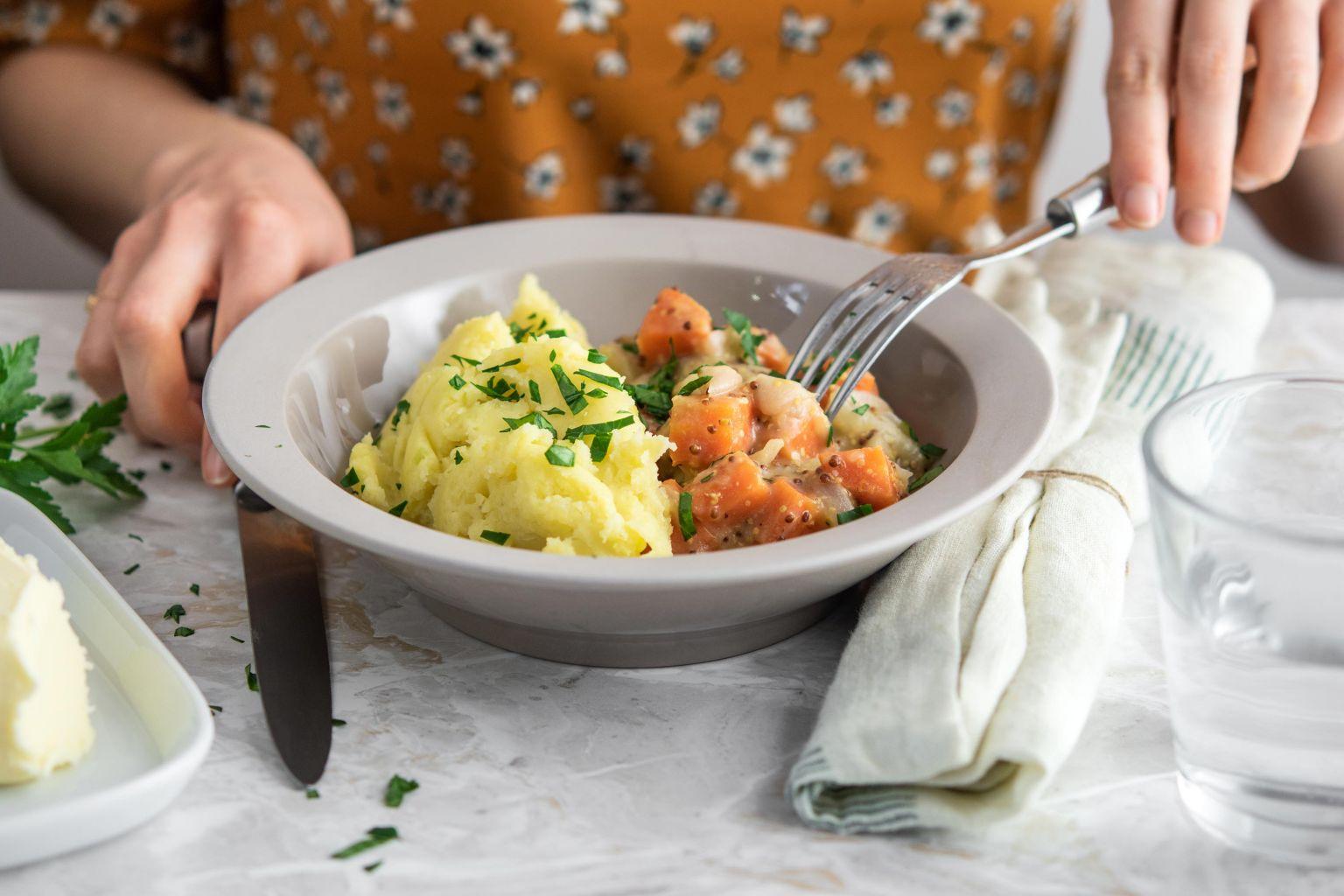 Recette de mijoté aux légumes veggie à la moutarde