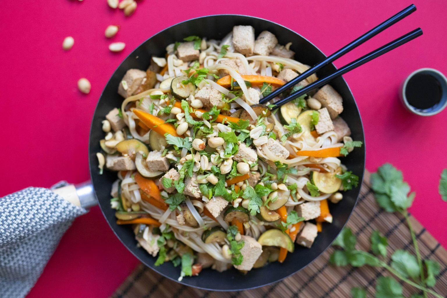 Pad thaï au tofu