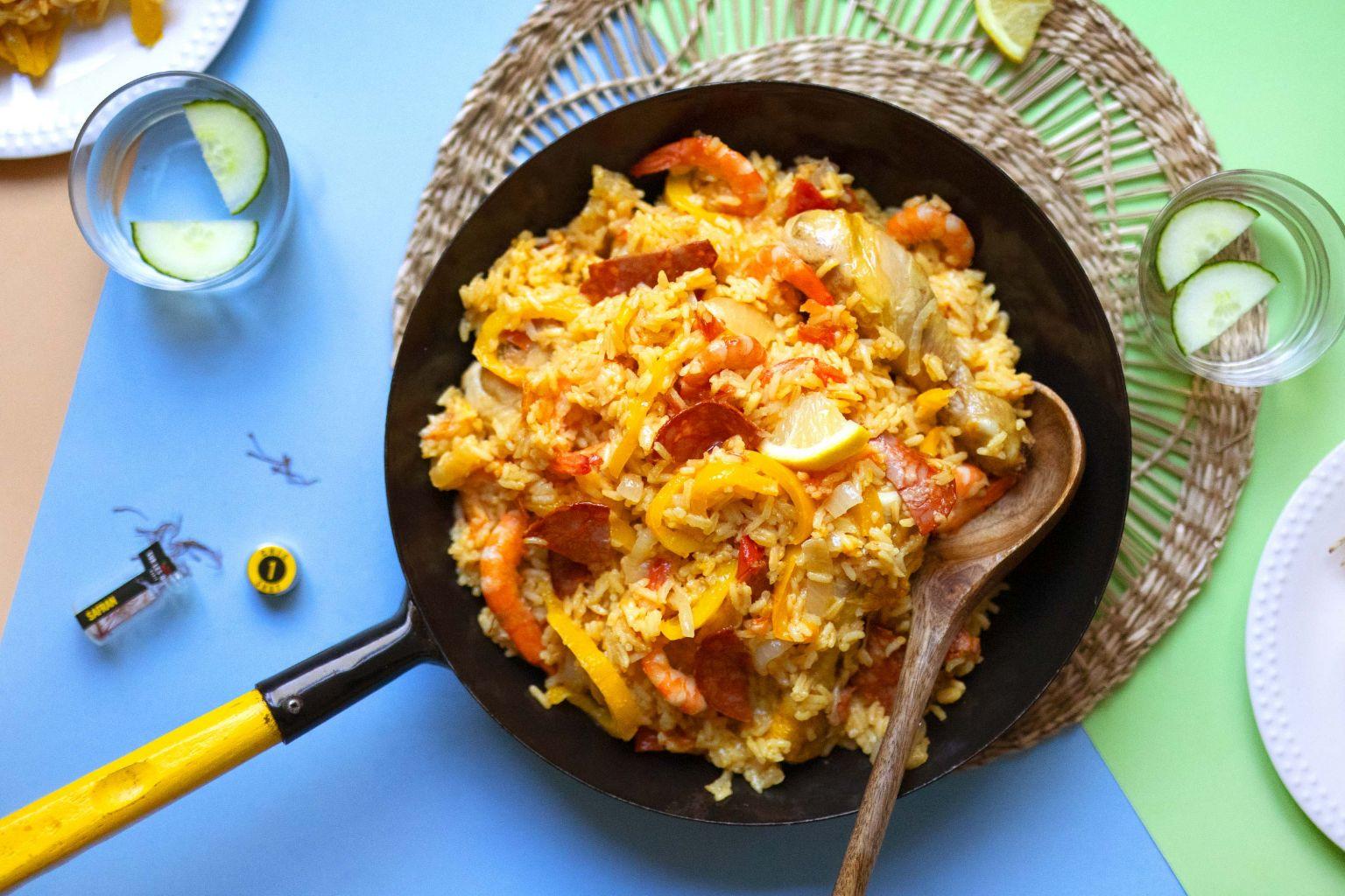 Paëlla façon Quitoque (poulet, crevettes et chorizo)