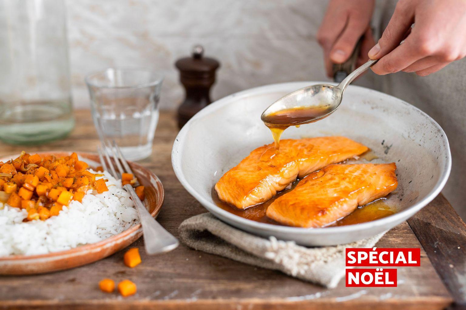 Pavés de saumon laqués à l'érable
