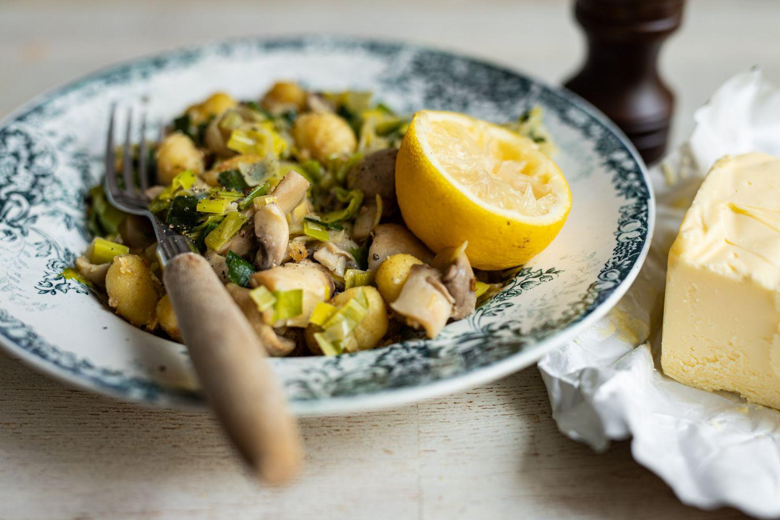 Pelmeni de boeuf au beurre d'Isigny AOP, ail et citron