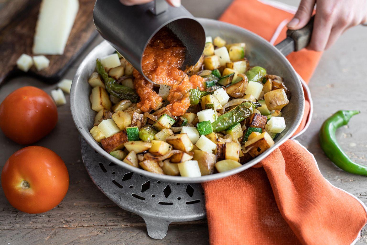 Poêlée de pommes de terre et manchego à l'espagnole