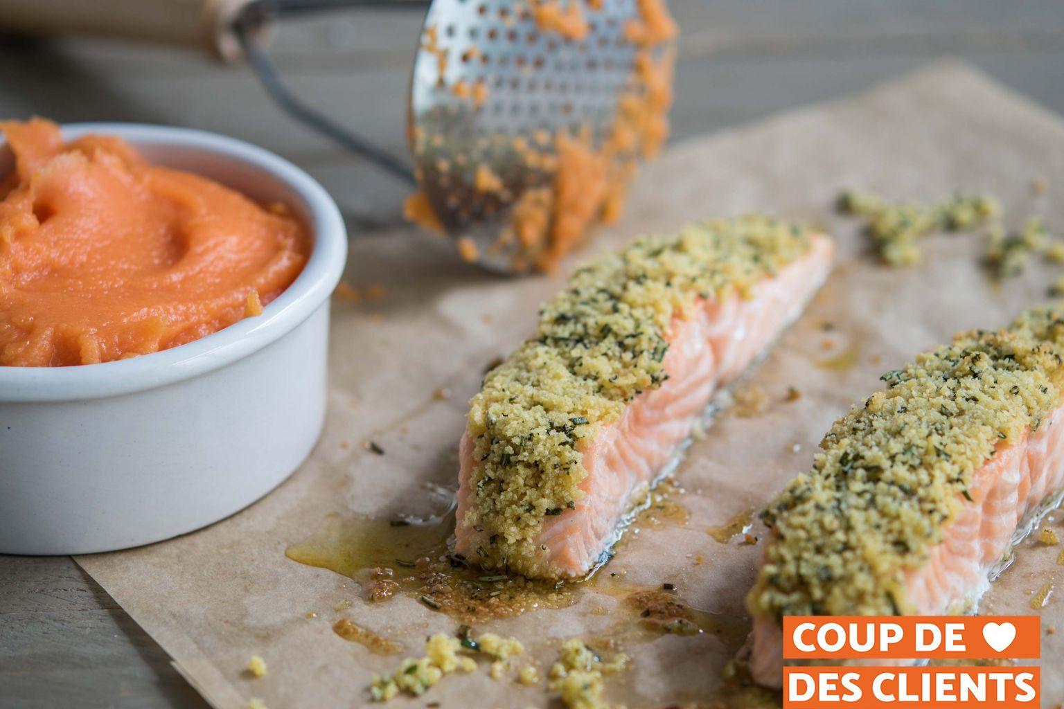 Saumon en croûte d'herbes de Provence