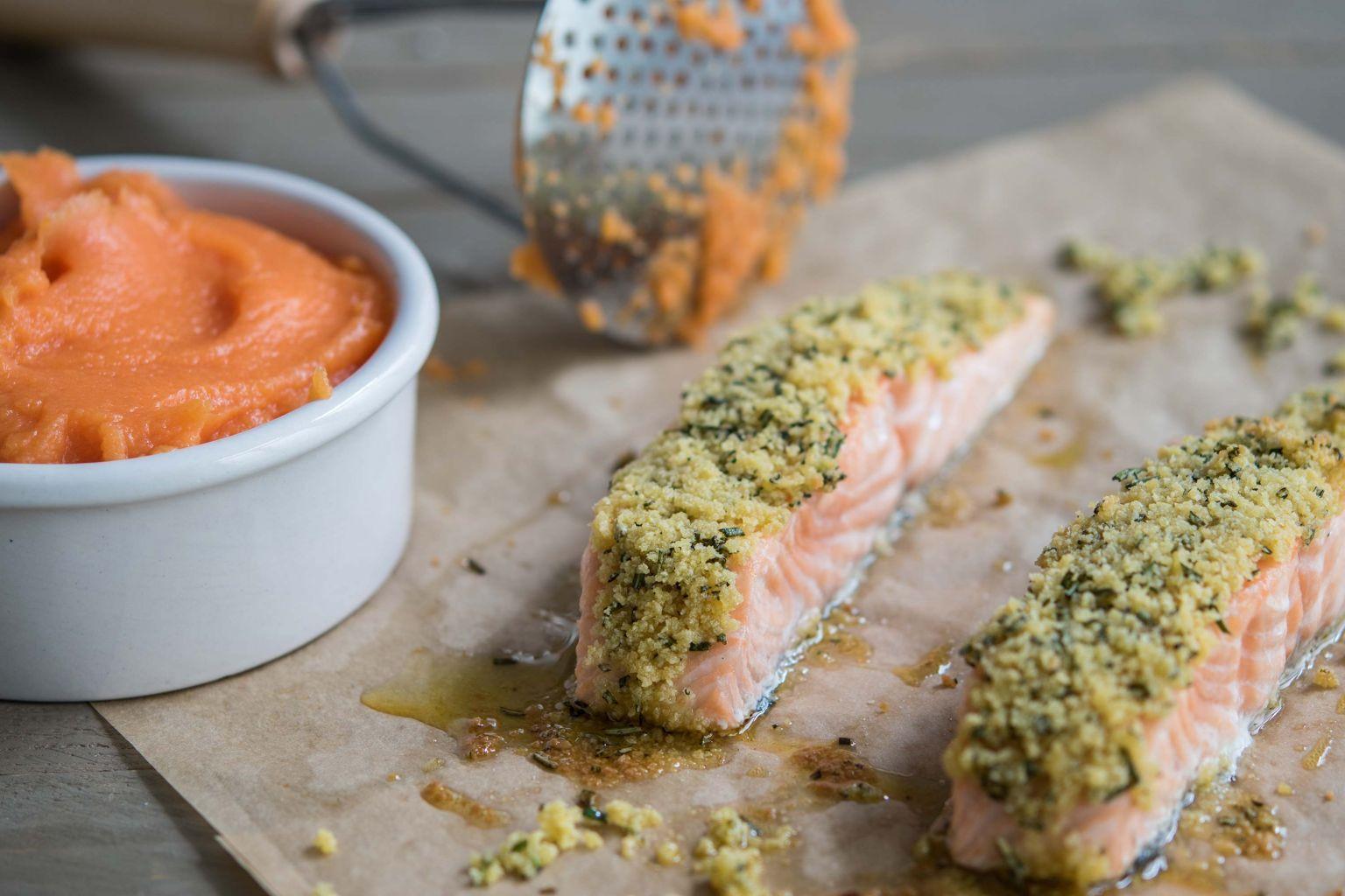 Pavés de saumon au parmesan