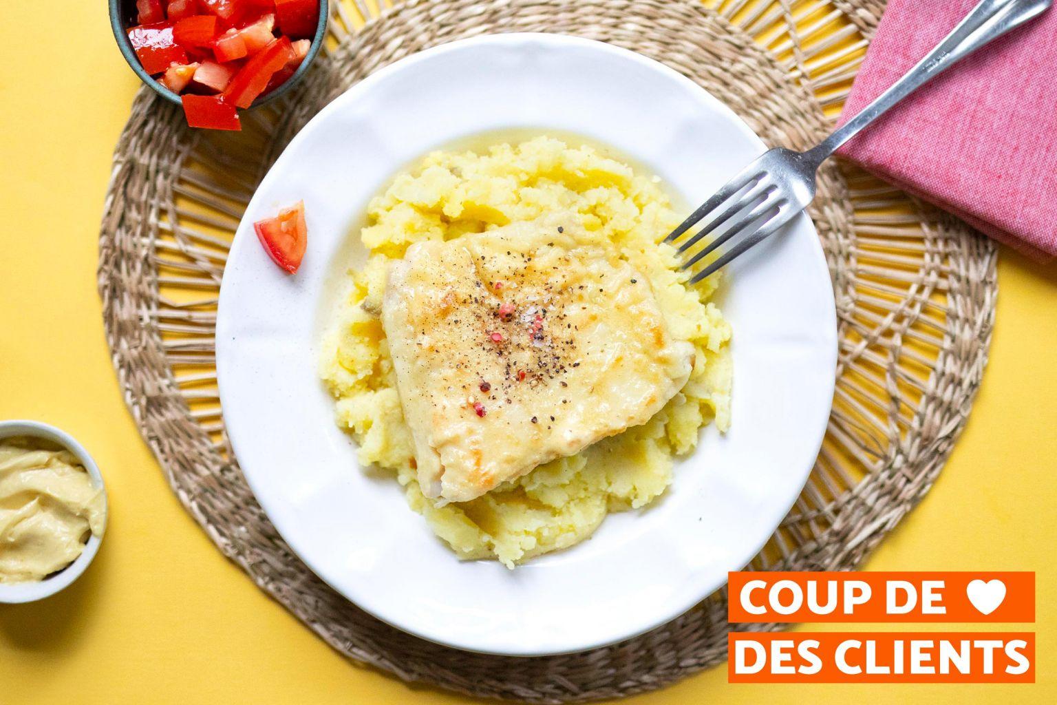 Filet de merlu et beurre moutardé