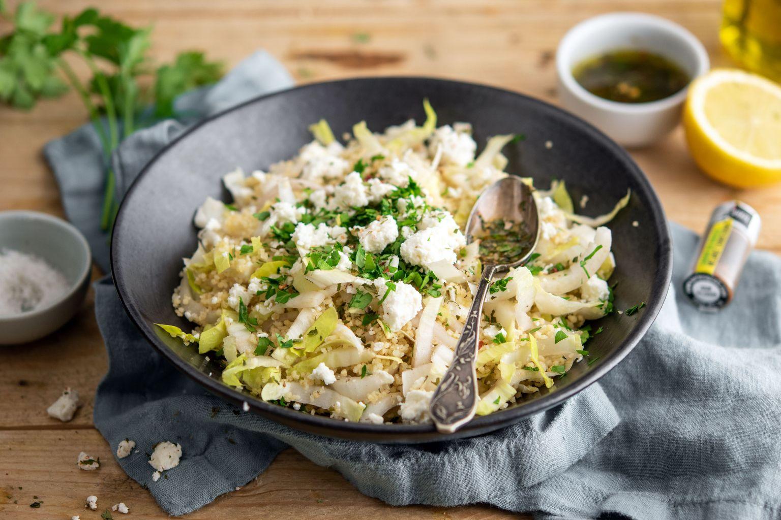 Salade aux endives, féta et chimichurri