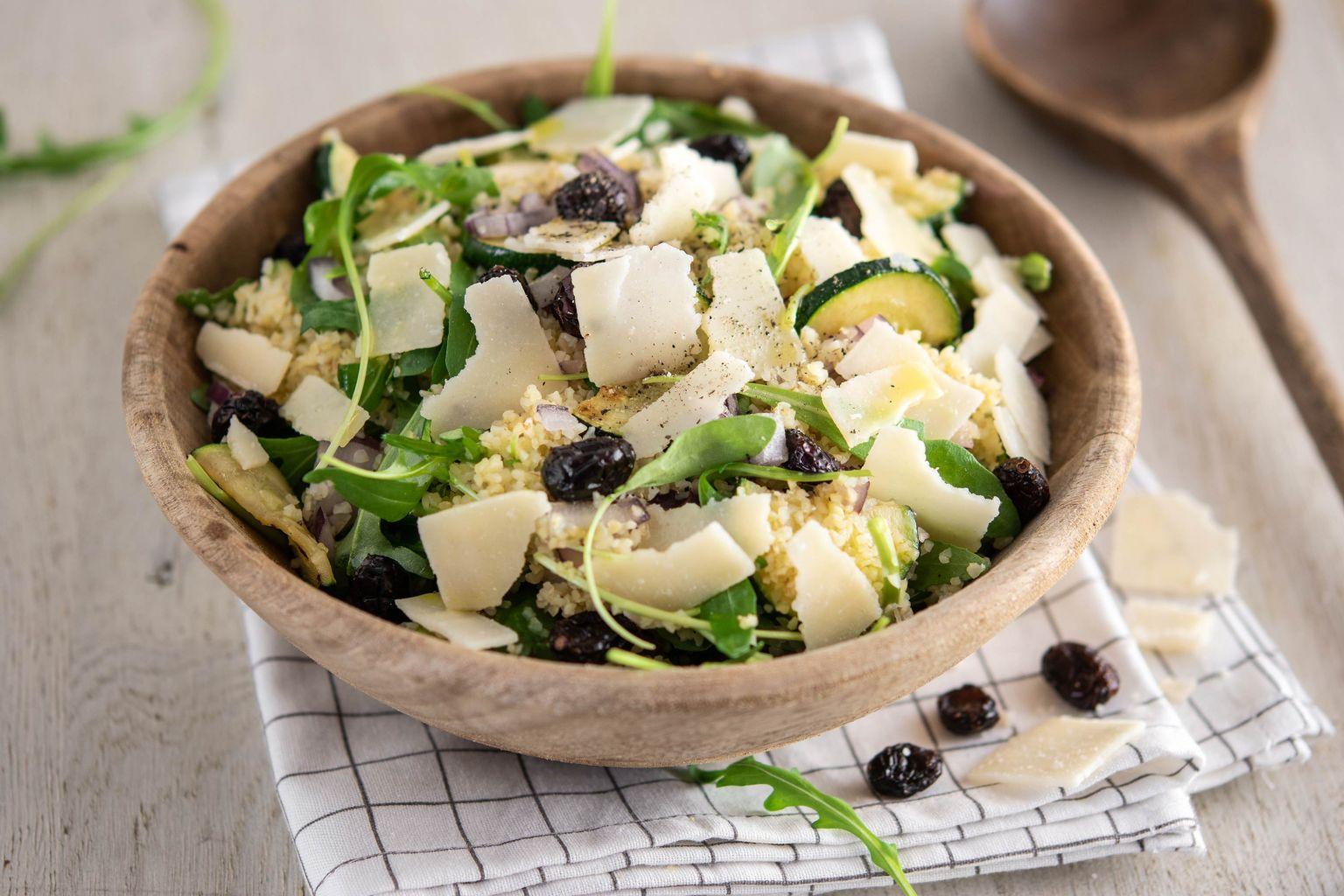 Salade de courgette au parmesan et cranberries