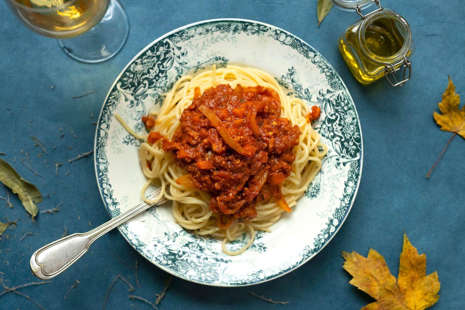 Spaghetti bolognaise au haché végétal