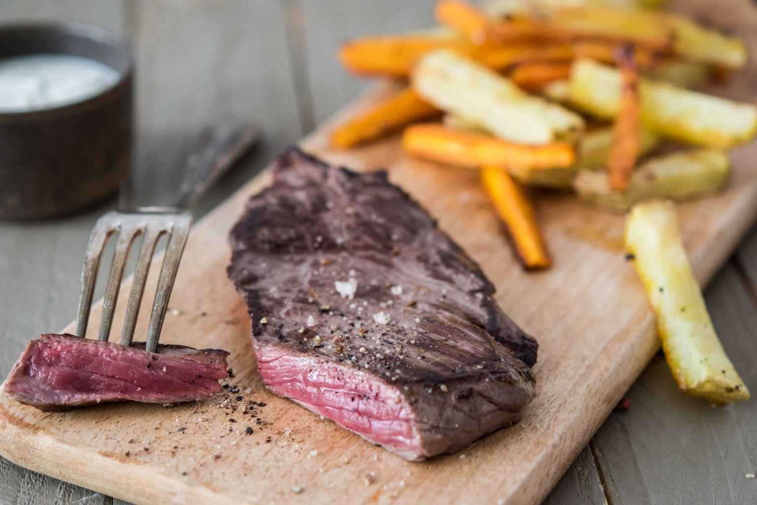 Steak de bœuf charolais aux épices grillées
