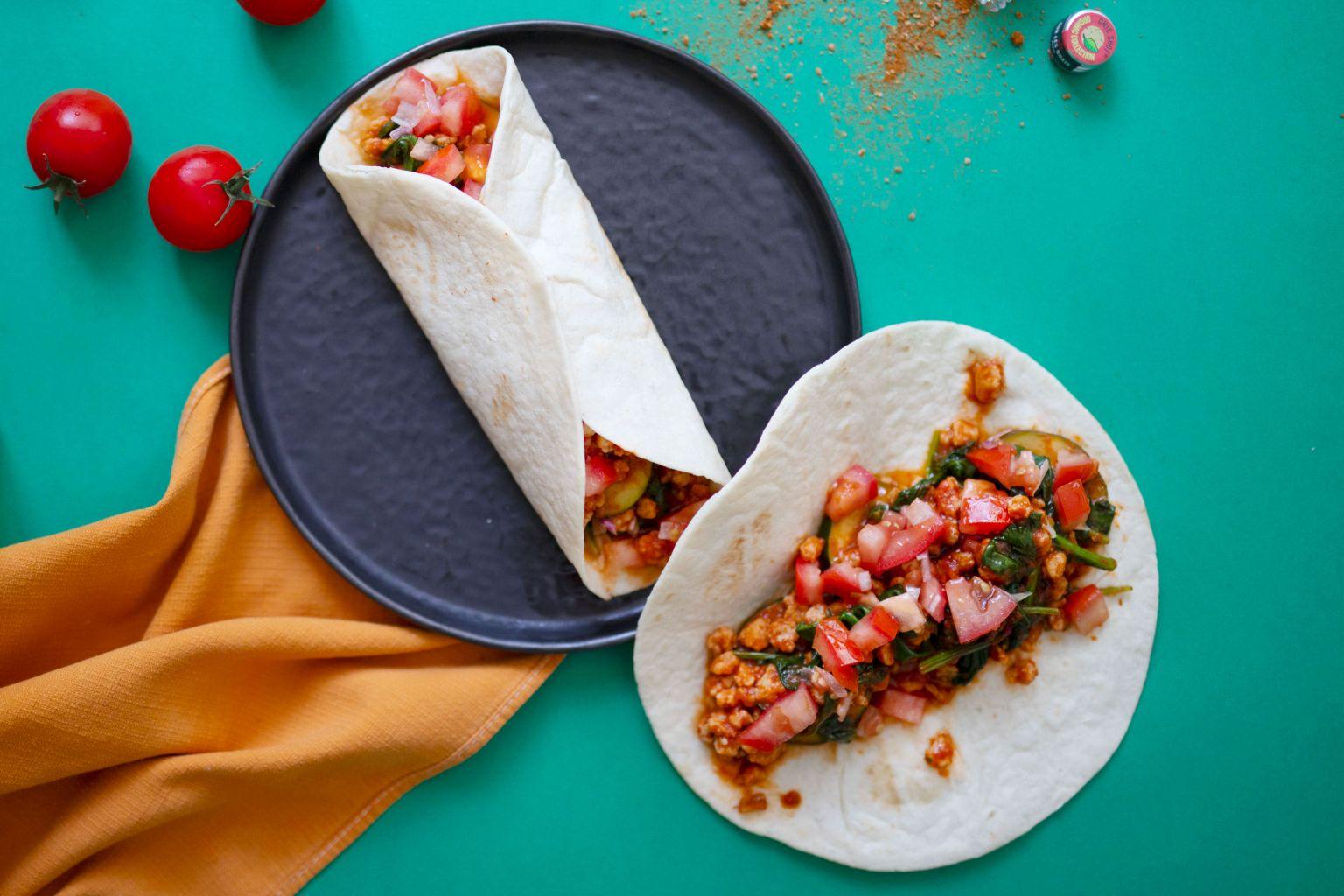 Tacos végétaux à la mexicaine