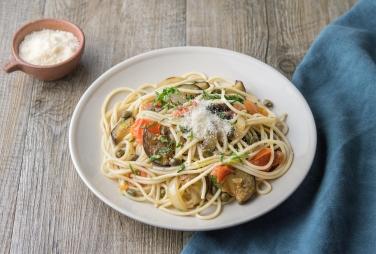Spaghetti à la caponata