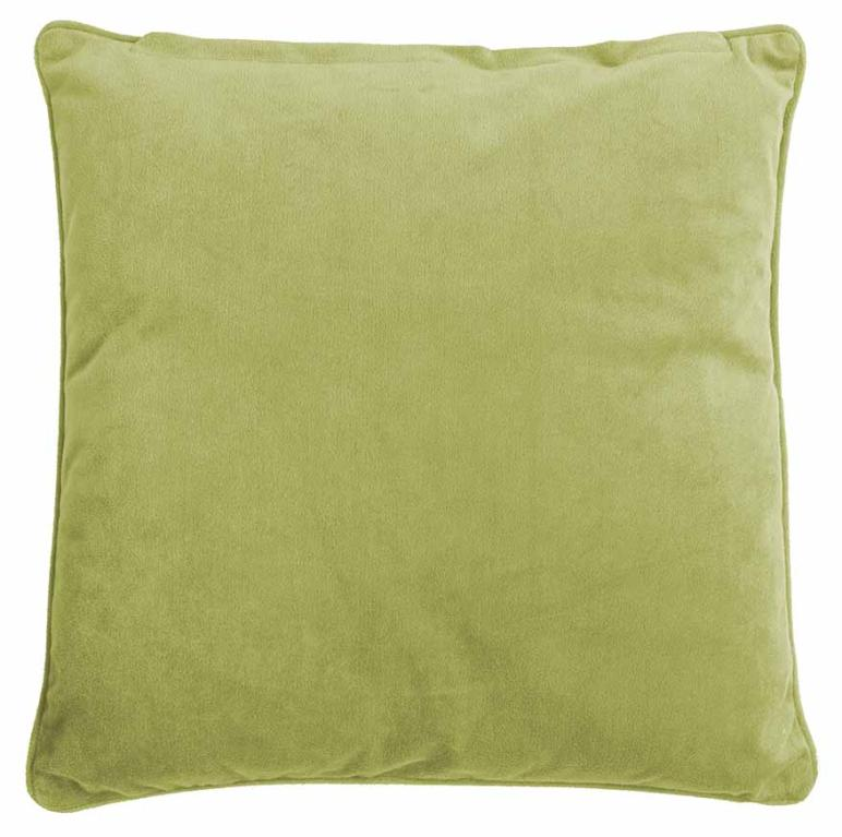 Housse de coussin Micropluche Lime 45x45,+zipper,double face 1