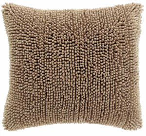 Cushion cover Shaggy Sand, front+back + zipper 1