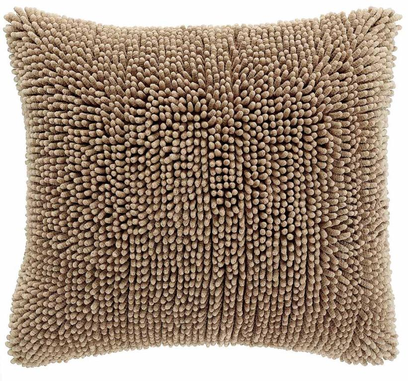 Cushion cover Shaggy Sand, front+back + zipper 2