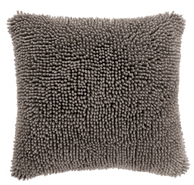 Cushion cover Shaggy Taupe, front+back + zipper 1