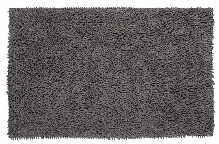 Bath carpetshaggy microfiber antislip 60x100 grey 1