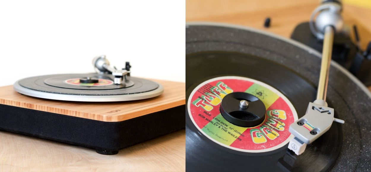 Turntable and vinyl House of Marley