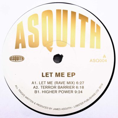 Asquith | Let Me EP | ASQ004 | Repress, Gold