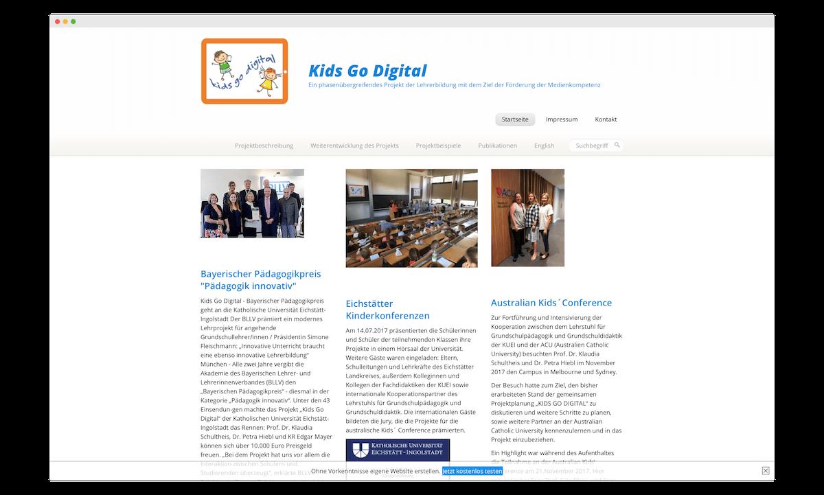 """""""Kids go digital"""" an der Uni Eichstätt"""