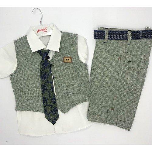 Kravatlı Erkek Çocuk Takım Elbisesi