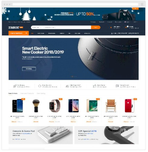 Razor - Mobil Uyumlu Magento 2 E-Ticaret Teması