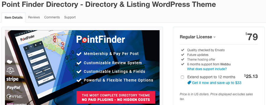 Point Finder Directory - Directory & Listing WordPress Theme