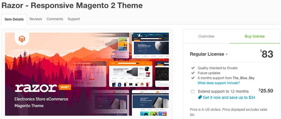 Razor - Responsive Magento 2 Theme