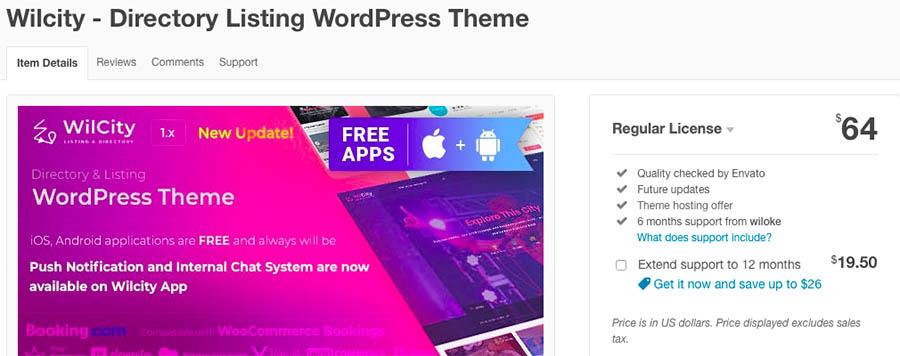 Wilcity - Directory Listing WordPress Theme Mersev