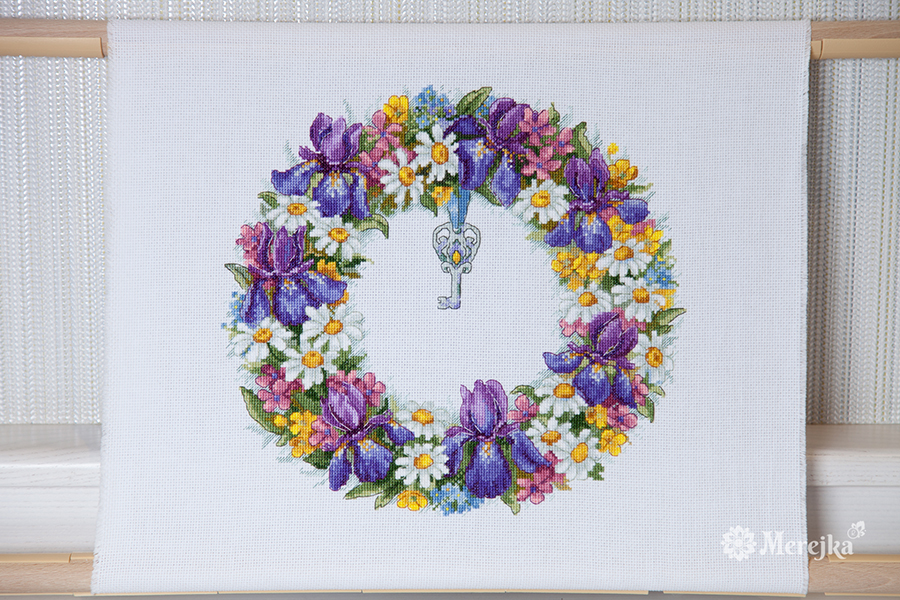 Wreath with Irises