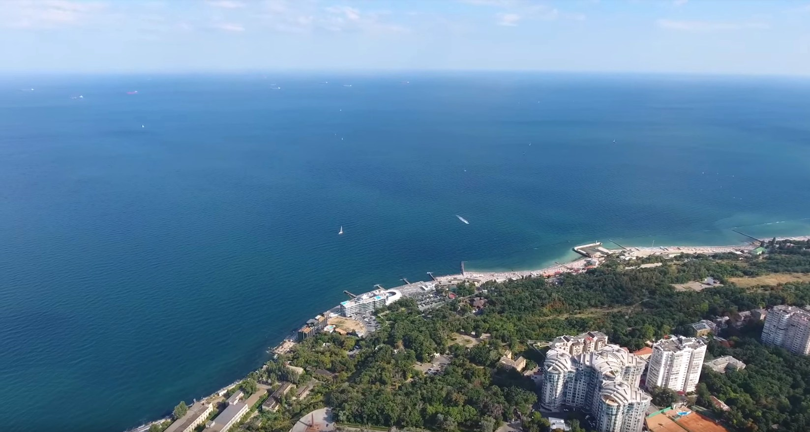 Фото Ланжерона в Одессе с высоты птичьего полета