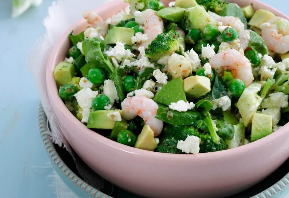 Broccolisalat Med Rejer Og Feta Magasinet Helse