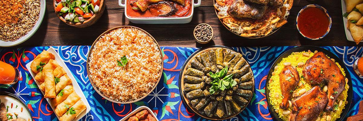 Orientalische Küche Speisen