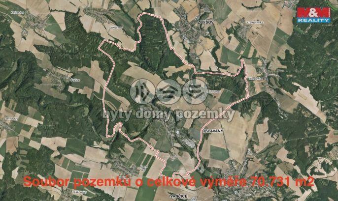 Prodej, Pole, 70731 m², Oslavany