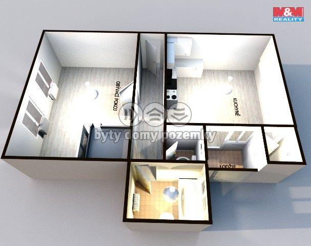 Pronájem, Byt 1+1, 44 m², Prostějov, Husovo nám.