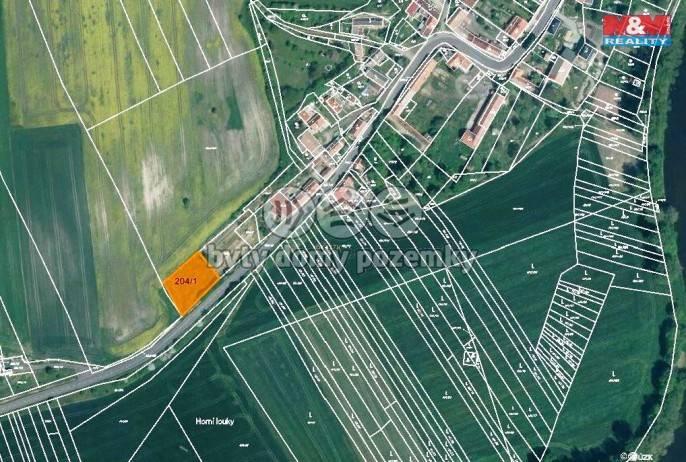 Prodej, Zahrada, 1075 m², Počedělice