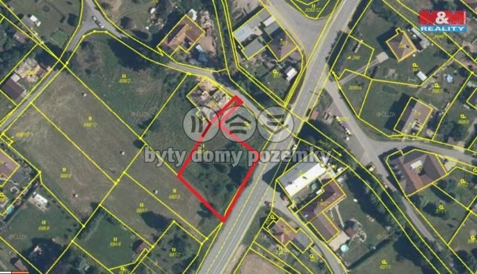 Prodej, Stavební parcela, 1305 m², Rudoltice