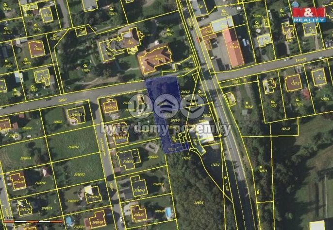 Prodej pozemku, 1439 m², Odry